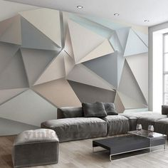 living freshouz geometric walls cool wallpapers paper