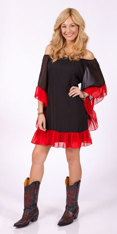 2tee Couture Gameday Ruffle Dress