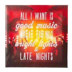 Good Music Great Friends Wall Canvas