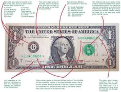 ▓☪ The dollar bill explained... kids would think this is so cool!