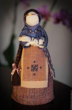 "Купить Кукла-оберег ""Мамка"" - тёмно-синий, кукла оберег, народная кукла, русская кукла"