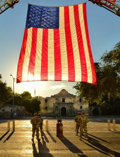 Tribute to the Fallen. Photo by Jeff Clow. Alamo in background of photo.