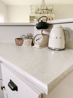 Wilsonart Laminate Countertops, Cost Of Countertops, Granite Tile Countertops, Kitchen Laminate, Kitchen Cabinets, Kitchen Counters, Carrara Marble Kitchen, Kitchen Sink Design, Kitchen Redo