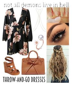 """""""#69"""" by mariangela06 ❤ liked on Polyvore featuring Lucky Brand, Mansur Gavriel, Miss Selfridge, contest, dress, hairstyle, polyvorecontest and easydresses"""