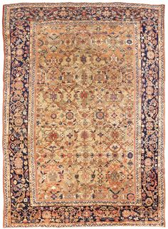 Make a statement with this rare antique Mahal, Persian rug. Interior Rugs, Interior Design, Eclectic Rugs, Patio Rugs, Classic Rugs, Traditional Rugs, Home Rugs, Rugs Online, Woven Rug