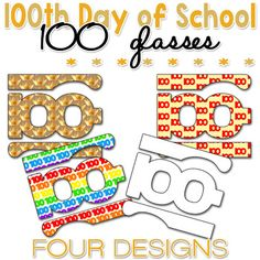 100th Day of School Activities: FREE 100th Day of School Printable Glasses
