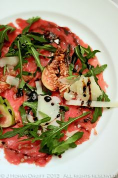 Beef carpaccio at the excellent Chiswell Street Dining Rooms, London  |  Cooksister.com  #London #restaurant