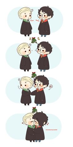 Immagine di draco malfoy, harry potter, and drarry
