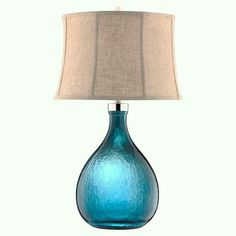 Lovely teal lamp