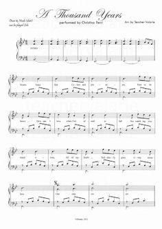 a thousand years christina perri sheet music pdf