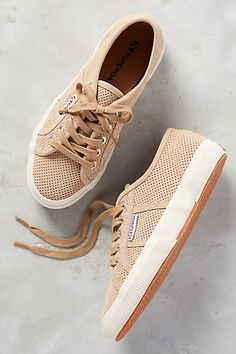 Superga Sneakers are one of my favorite things! --- Superga Perf Sneakers #anthropologie