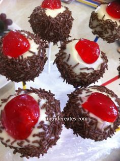 Blackforest Cake Pops