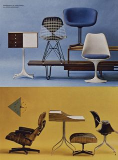 modern chairs from a 1961 Playboy article