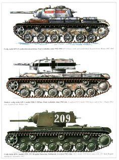 KV-1 Soviet heavy tank, variants