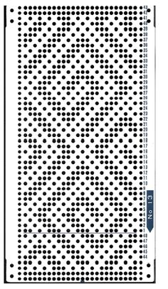 Brother 820 Knitting machine Punchcard number 13   http://www.needlesofsteel.org.uk/