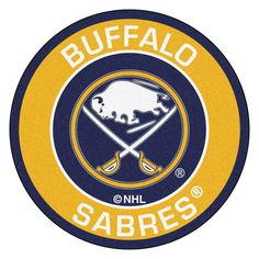 The Fan Mats NHL Hockey Round Indoor Area Rug - diam. is an easy way to display your team pride. This durable round rug has a nylon face with. Nhl Wallpaper, Blues Nhl, Nhl Logos, Hockey Logos, Nylon Carpet, Nhl Jerseys, Nhl Players, Buffalo Sabres, Vancouver Canucks
