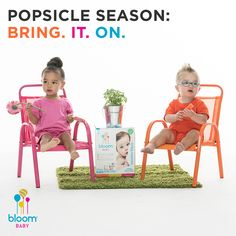And sticky hands, faces, etc, etc: bring. it. on. too. Mom has #allergenfree, super absorbent #bloomBaby wipes this year. Stock up at #Target or #Amazon. #MessyBaby #PopsicleTime #PopsicleFace