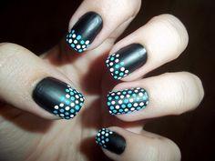 super cute polka dot nails