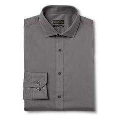 Men's Slim Fit Wrinkle Free Dress Shirt Grey - City of London 16.5 / 32-33