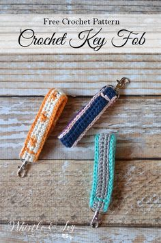 FREE Crochet Pattern: Crochet Key Fob | Keep your keys handy with this useful…