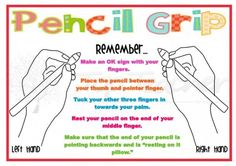 learn to write with my left hand The step by step instructions on this poster, along with the image will assist your students to correctly hold their pencil. Poor pencil grip can result in sloppy writing and in the long term may reduce speed and efficenc