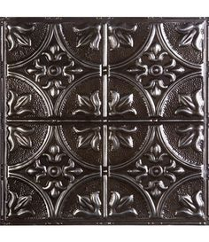 American Tin Ceilings Dropins Pattern #2 Oil Rubbed Silver