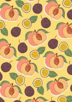 patterns.quenalbertini: fruits pattern by Hannah Rampley via hannarampley