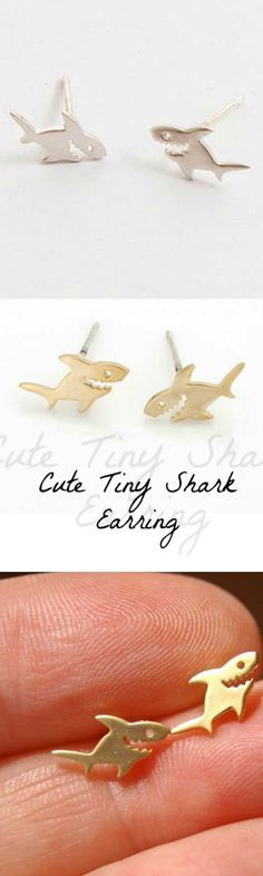 Cute Tiny Shark Earring! Click The Image To Buy It Now or Tag Someone You Want To Buy This For.  #Shark