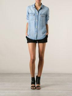 7 For All Mankind Denim Shirt - Penelope - Farfetch.com