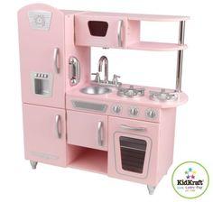 Kidkraft Enfants Bois Cuisine Jouets Retro Rose En Kitchen Setspink Play
