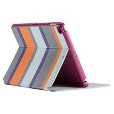 Speck Products StyleFolio Case & Stand for iPad Air & iPad Air 2. Stylish striped tablet case that looks great and offers great protection! Stripe colors are Cabana, Sea Glass Blue, & Vivid Purple.