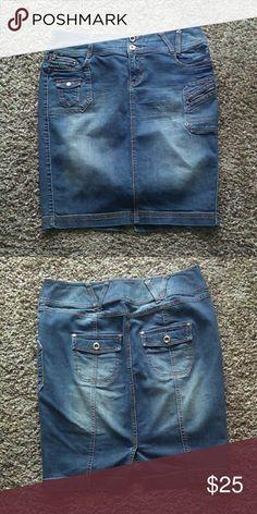 HOST PICK Lane Bryant Jean Skirt Good condition. Size 14. Lane Bryant Lane Bryant Skirts Pencil