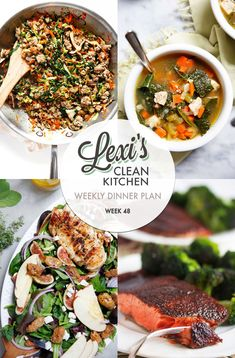 Meal Plan Graphic Week 48 | Lexi's Clean Kitchen