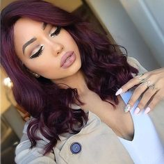 Burgundy Hair Style Trends 22