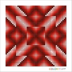 Red 1 Bargello Patterns, Bargello Quilts, Loom Patterns, Beading Patterns, Cross Stitch Patterns, Geometric Quilt, Geometric Shapes, Twister Quilts, 3d Foto