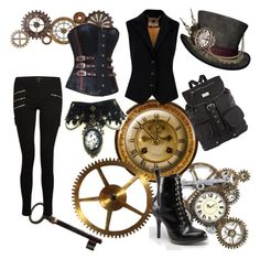 steam punk by becca-h-c on Polyvore featuring polyvore, fashion, style, Ted Baker, J Brand, Dr. Martens, River Island, Home Decorators Collection, women's clothing, women's fashion, women, female, woman, misses and juniors