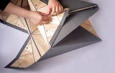 Origami furniture. Playtime collection by zhangthonsgaard.com