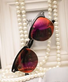 3486ec9e90c Beach Party Cat Eye Red Lenses Unisex Sunglasses on Luulla