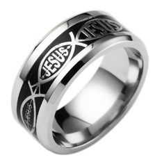 Designed and viewed by many who believe in God's only Son.High Polished Finish, Comfort Fit and size 6-12 available, which make this wedding bands suit for mens