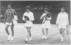 The majestic Brazilian Maria Bueno making her first appearance at Wimbledon in 1958.