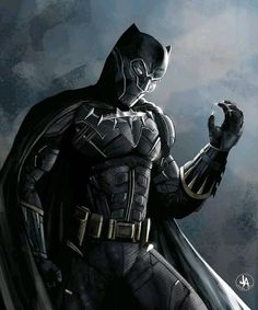 """2,293 Likes, 55 Comments - Marvel Cinematic Universe (@marveldaily270) on Instagram: """"Black Panther/ Batman mashup!.Give this character a name. Artist @jeran_art _-_-_-_-_-_-_-_-_-_-_…"""""""
