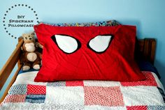 Handmade Gifts For Boys: DIY Spiderman Pillowcase