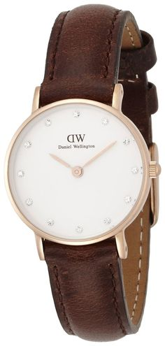 Amazon.com: Daniel Wellington Women's 0903DW Bristol Rose Gold-Tone Stainless Steel Watch with Crystal Indices: Daniel Welligton: Watches