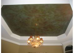 LOVE THIS FAUX FINISHED CEILING