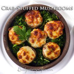 Crab stuffed mushrooms.