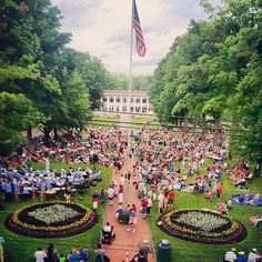 Chautuaqua Institution - Bestor Plaza (taken from Smith Library) - 4th of July Celebration 2013 - Photo by chqdaily  I wish I were there today (It's July 4, 2014).
