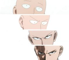 saitama - one punch man - on a scale of 1-4, how much trouble are you in? Lol