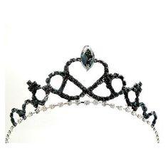 Black Swan Tiara, Black Swan Crown Gothic fascinator Gothic Black... ❤ liked on Polyvore featuring accessories, hair accessories, crown hair accessories, fascinator hats, fascinator headband, black swan crown and fascinator headband hat