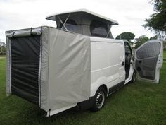 Kim's Renault Traffic with our Universal Pop Top. Kim added a rear tent - brilliant for extra space