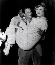 Tony Curtis and Jack Lemmon on the set of Some Like It Hot (1959),